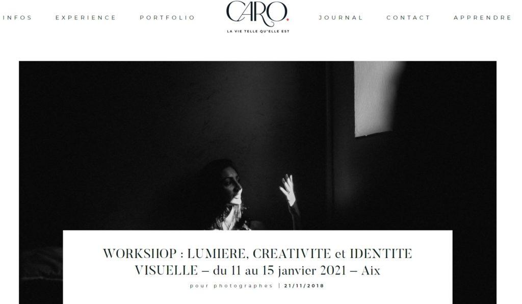 workshop lumière créativité et identité visuelle