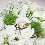bouquet mariée alliances couleur