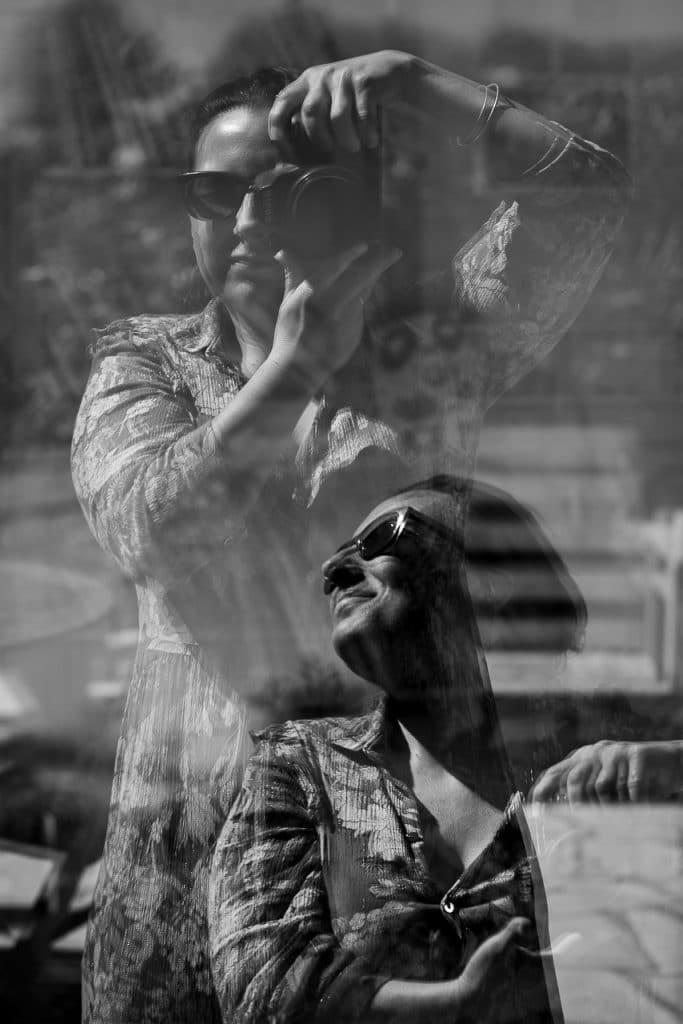 fanny fages autoportrait reflet double exposition
